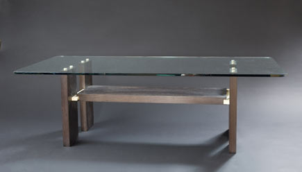 Stephen maurer furniture design coffee table wenge holly glass - Table basse but wenge ...